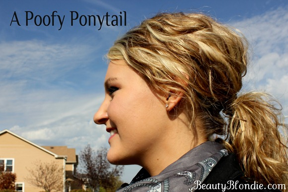 A Poofy Ponytail at BeautyBlondie.com