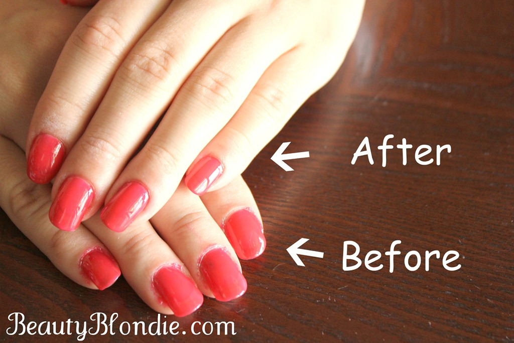 Before And After Perfectly Painted Professional Nails At BeautyBlondie