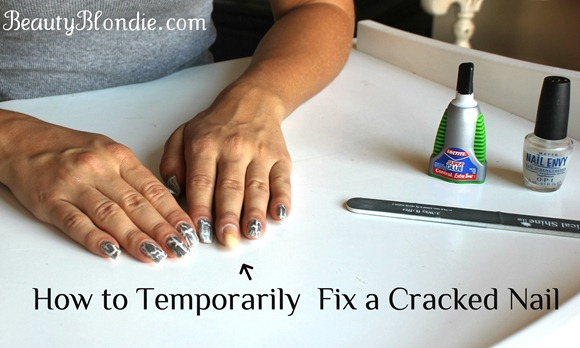 How to Temporarily Fix a Cracked Nail at BeautyBlondie.com