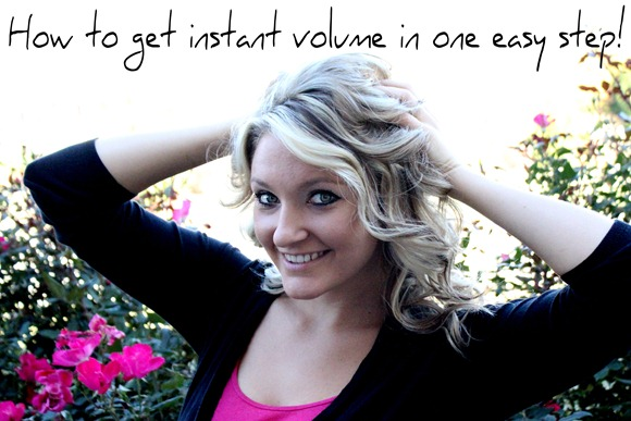 How to get instant volume in one easy step at BeautyBlondie.com