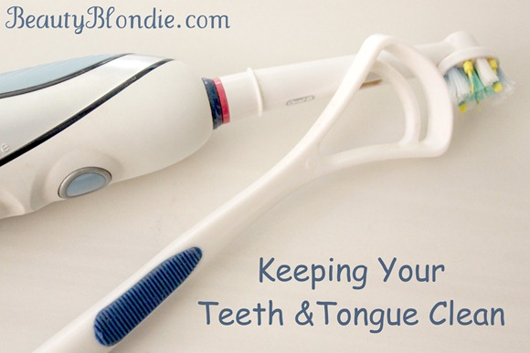 Keeping your teeth and tongue clean at BeautyBlondie.com