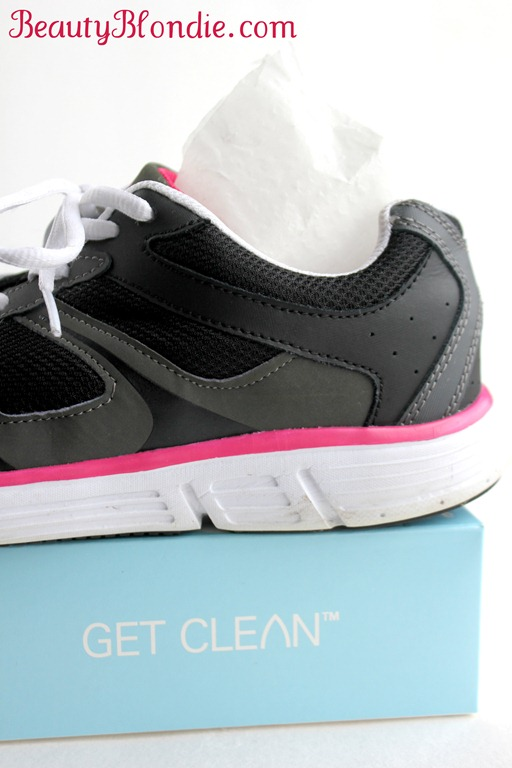 Shaklee's Get Clean Dryer Sheets will help you keep your shoes