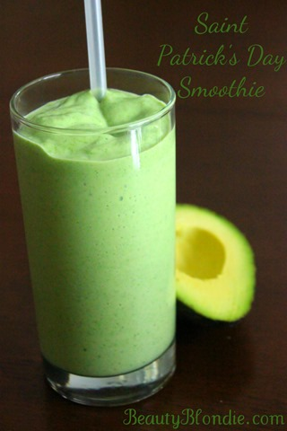 St. Patrick's Day Smoothie. I am so going to have this that morning!