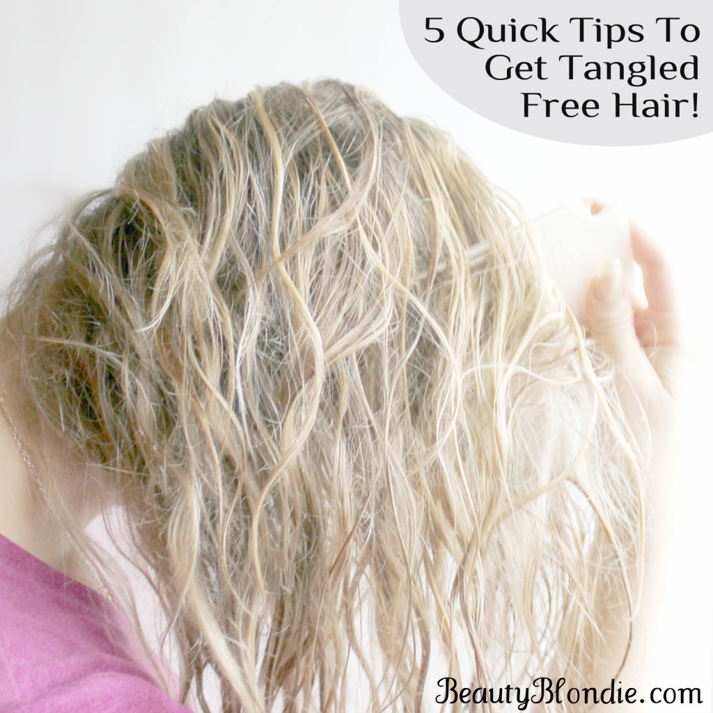 5 quick tips for shampooing your hair while keeping it tangled free!