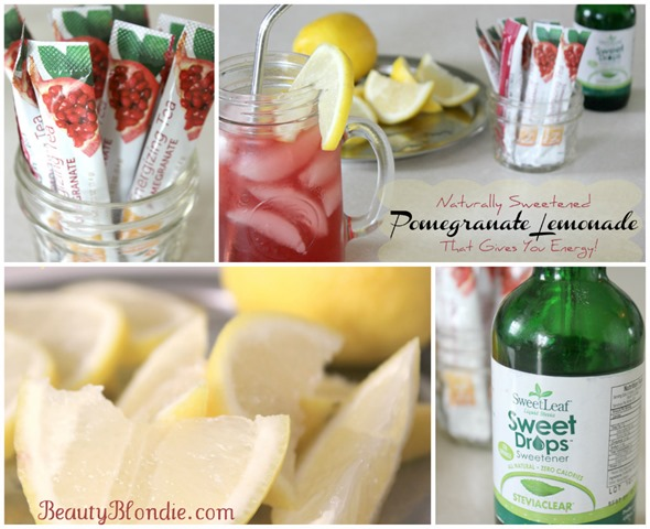 ... showing you just how I make my famous Pomegranate Lemonade Iced Tea