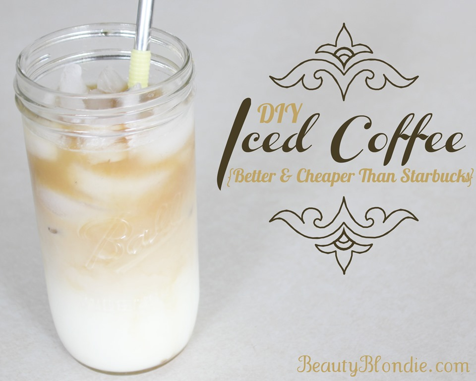 2 Minute Iced Coffee for Less Than 1 Dollar {Better & Cheaper than Starbucks}