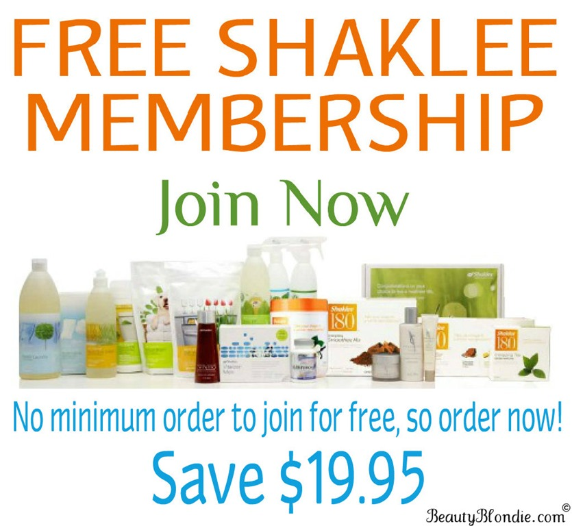 Join Shaklee for Free!!!