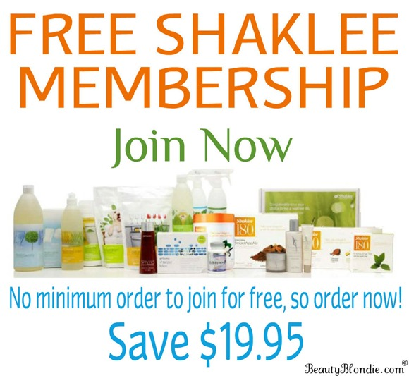 Join Shaklee for FREE with any purchase! Shaklee Product Special!