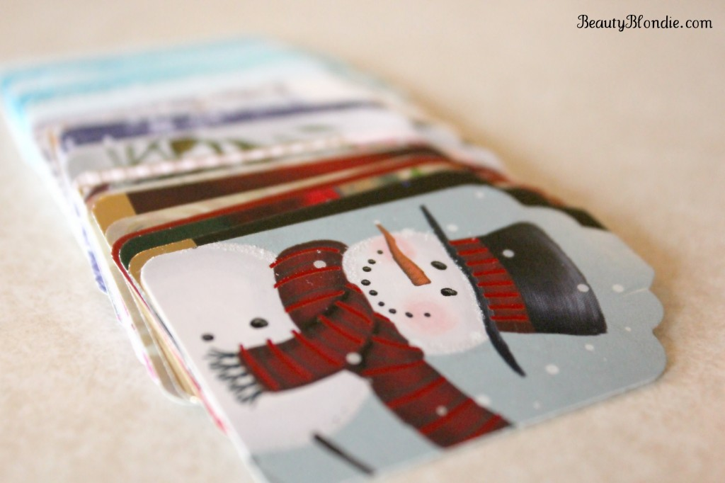 DIY Christmas Tags from old Christmas cards.