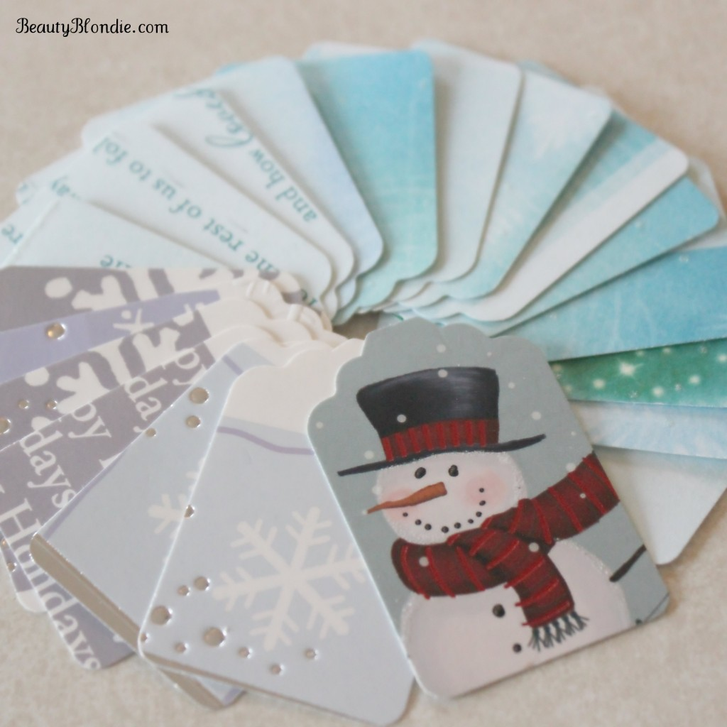 I love this idea of making your own Chrtisam Tags out of your old cards