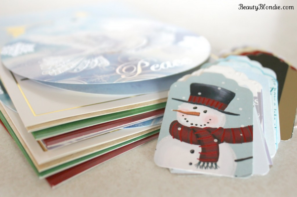 Turn your old christmas cards into gift tags