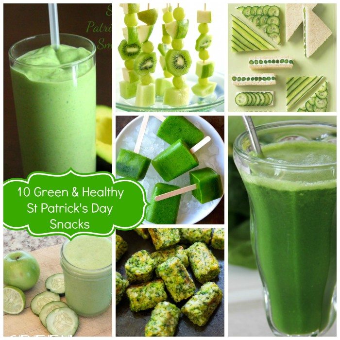10 Green and Healthy St Patrick's Day Snacks